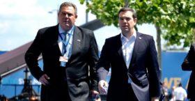 Συνάντηση Τσίπρα – Καμμένου για Σκοπιανό: Συμφώνησαν να παραμείνουν στις καρέκλες