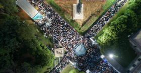 Η εντυπωσιακή φωτογραφία από drone της συγκέντρωσης του Κώστα Μπακογιάννη